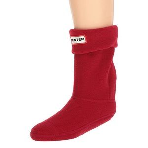 Hunter Kids Boot Socks military red size large